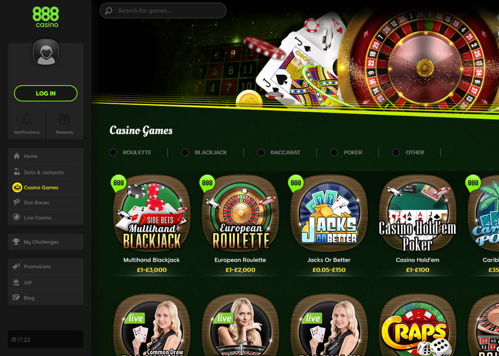 888 casino uk review australian government productivity commission gambling