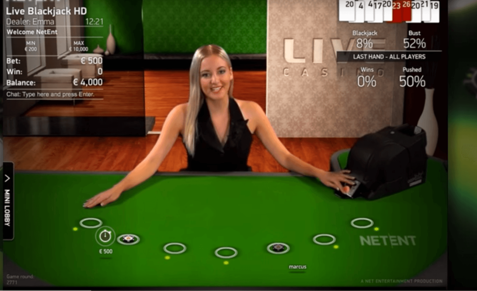 blackjack online casino sizlling hot